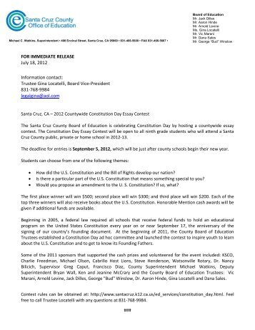 Press Release and Essay Contest Rules - Santa Cruz County Office ...