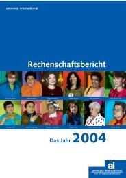 Das Jahr 2004 - Rechenschaftsbericht - Amnesty International