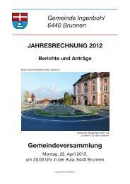 Rechnung 2012 - Brunnen