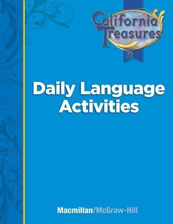Grade 3 Daily Language Activities - Treasures