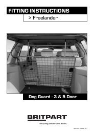 FITTING INSTRUCTIONS Dog Guard - 3 & 5 Door - Paddock Spares