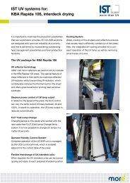 IST UV systems for: KBA Rapida 106, interdeck drying - IST METZ