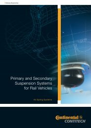 Primary and Secondary Suspension Systems for Rail Vehicles
