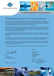 Ihr Mikrosystemtechnik-Dienstleister - IST AG Innovative Sensor ...