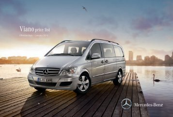 Viano Price List January 2013 - Mercedes-Benz