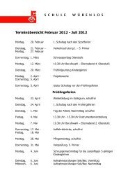 Terminübersicht 2. Semester 11-12
