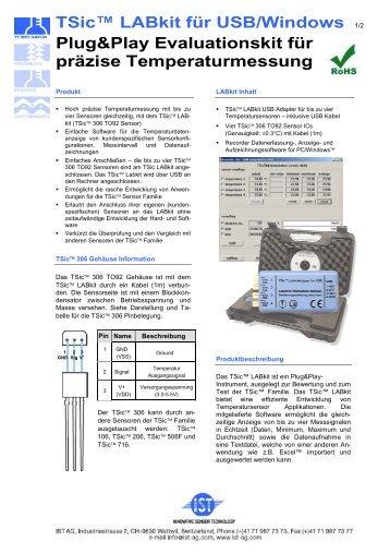 TSic™ LABkit für USB/Windows 1/2 Plug&Play Evaluationskit für ...