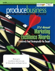 to see the Produce Business Marketing Excellence Awards