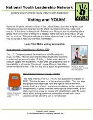 Voting and YOUth! - The National Youth Leadership Network