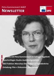 Infobrief Ausgabe 10 - 2011 - Petra Kammerevert