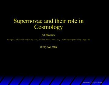 Supernovae and their role in Cosmology