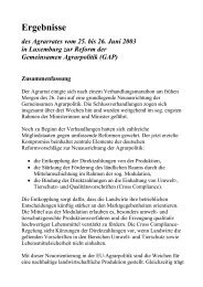EU-Mitteilung zum luxemburger Beschluss vom 26. Juni 2003