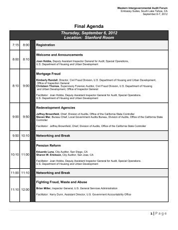 final agenda.pdf - intergovernmental audit forums