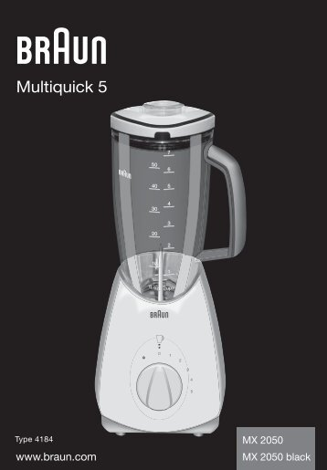 Multiquick 5 - Braun Consumer Service spare parts use instructions ...