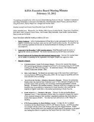 LESA Executive Board Meeting  Minutes February 15, 2012