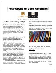 grooming guyde - spring into style - American Male Salons