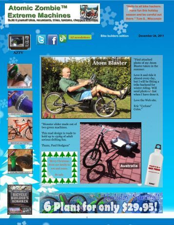 Atom Blaster - AtomicZombie - DIY Plans for Recumbent Bikes ...