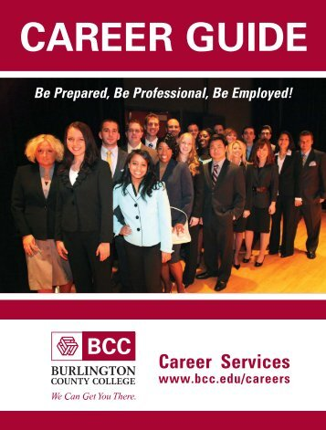 Career guide - Burlington County College