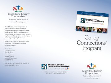 Co-op Connections® Program - Basin Electric Power Cooperative