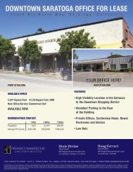 DOwNtOwN SARAtOgA OFFiCE FOR LEASE - Prime Commercial, Inc
