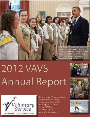 2012 VAVS Annual Report - VA Voluntary Service
