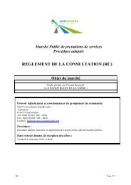 REGLEMENT DE LA CONSULTATION (RC) - Eurodistrict SaarMoselle