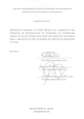 Leonardo da Silva Boia - Programa de Engenharia Nuclear - UFRJ