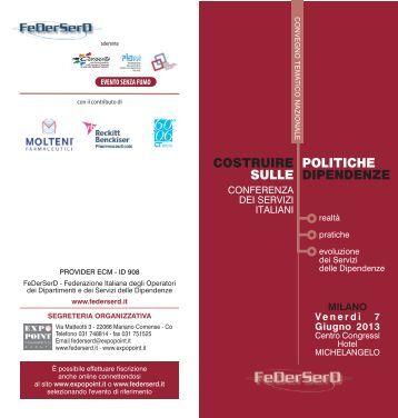 programma MIlano web - Newsletter.federserd.it - FeDerSerd