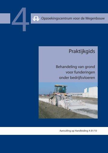 Behandeling van grond voor funderingen onder bedrijfsvloeren