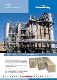 SINOx Catalysts for Gas Turbine Applications (pdf) - MurCal, Inc.