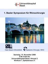 Diagnostik vor Nasenoperationen Dr. Ruth Köppl, Basel