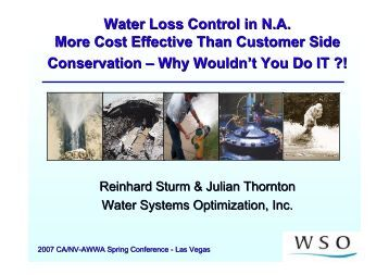 Water Loss Control in North America, More Cost Effective than ...