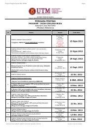 PERKARA PENTING 6 Okt. 2013 - UTM SPACE