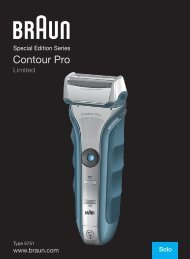 Contour Pro - Braun Consumer Service spare parts use instructions ...