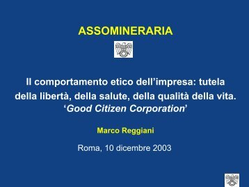 The growth of corporate social responsibility - Assomineraria