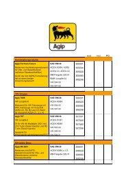 Agip Produkte - PG Schmierstoffe