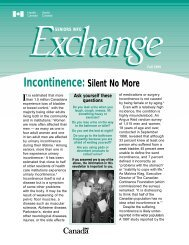 Incontinence: Silent No More