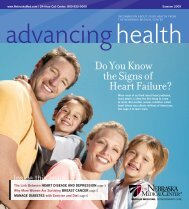 Advancing Health Magazine - Summer 2009 - The Nebraska ...