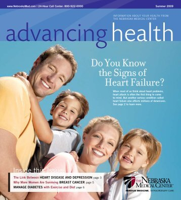 Advancing Health Magazine - Summer 2009 - The Nebraska ...