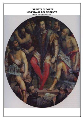 L'ARTISTA DI CORTE NELL'ITALIA DEL SEICENTO