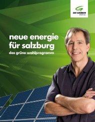 Salzburg: Wahlprogramm 2009 - Die Grünen Österreich