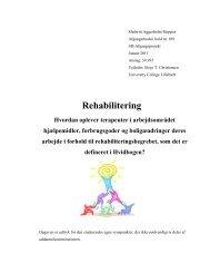 [pdf] Rehabilitering - Ergoterapeutforeningen