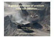 A Global Overview of Uranium Mine Remediation - The AusIMM