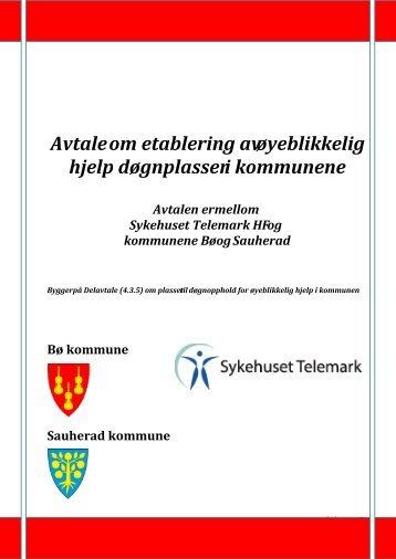 Vedlegg: 2 Samarbeidsavtale kommunene Bø_Sauherad og STHF ...