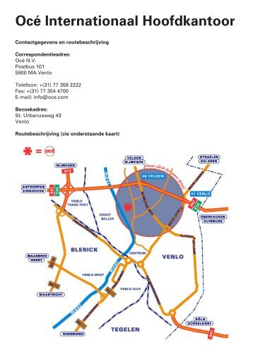 Océ vestigingen in Venlo