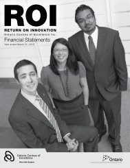 2011/12 Financial Statements - Ontario Centres of Excellence