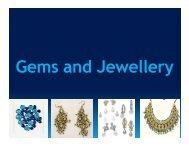 Gems & Jewellery - West Bengal Industrial Development Corporation