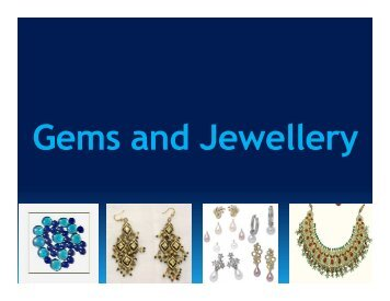 Gems & Jewellery - West Bengal Industrial Development Corporation