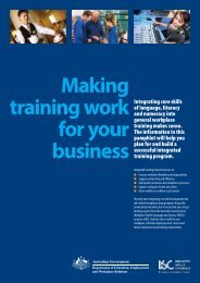 Making training work for your business - Service Skills