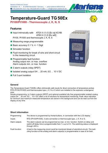 TG50Ex-V2_0-00- Prospekt - Martens Elektronik GmbH